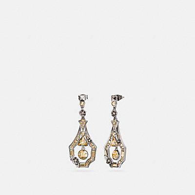 裝飾風茶香玫瑰耳環
