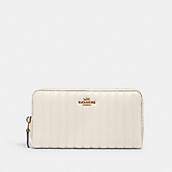 ACCORDION ZIP WALLET WITH LINEAR QUILTING - IM/CHALK - COACH 2855