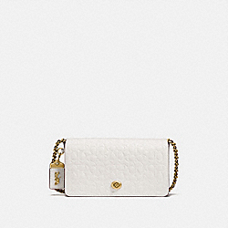 DINKY IN SIGNATURE LEATHER - OL/CHALK - COACH 28631