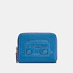 COACH X KEITH HARING SMALL ZIP AROUND WALLET - BP/SKY BLUE - COACH 28679
