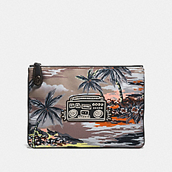 COACH X KEITH HARING POUCH - HAWAIIAN BROWN BOOMBOX - COACH 28731