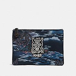 COACH X KEITH HARING POUCH - HAWAIIAN BLACK MONSTER - COACH 28731