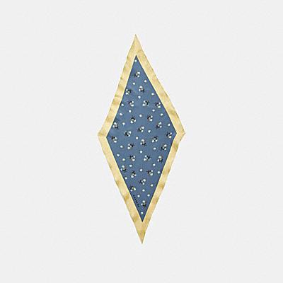 フローラル ボウ プリント シルク ダイヤモンド