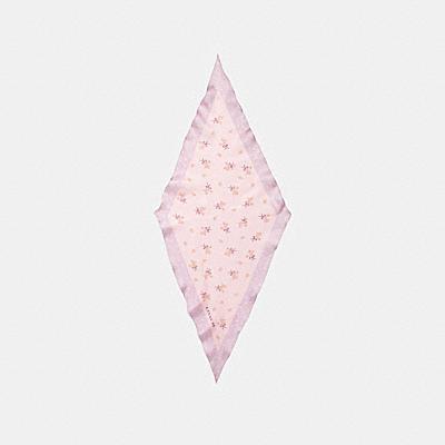 플로럴 보우 프린트 실크 다이아몬드