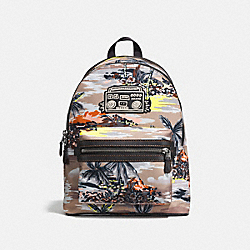 COACH X KEITH HARING ACADEMY BACKPACK - BLACK COPPER/HAWAIIAN BROWN - COACH 28755