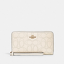 LARGE PHONE WALLET IN SIGNATURE LEATHER - IM/CHALK - COACH 2876