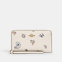 LARGE PHONE WALLET WITH DANDELION FLORAL PRINT - IM/CHALK/ BLUE MULTI - COACH 2877
