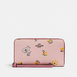 LARGE PHONE WALLET WITH DANDELION FLORAL PRINT - SV/BLOSSOM MULTI - COACH 2877