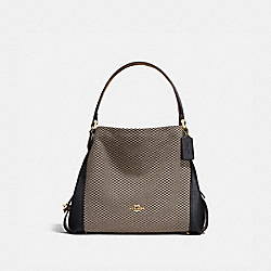 EDIE SHOULDER BAG 31 WITH LEGACY PRINT - LI/BLACK - COACH 28895