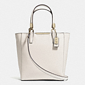 MADISON MINI NORTH/SOUTH TOTE IN SAFFIANO LEATH