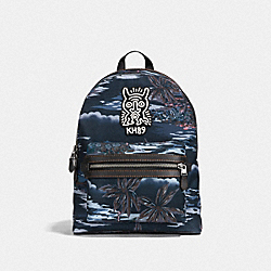COACH X KEITH HARING ACADEMY BACKPACK - BLACK HAWAIIAN PRINT/BLACK COPPER FINISH - COACH 29055