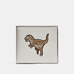 DOUBLE BILLFOLD WALLET WITH MASCOT - REXY CHALK - COACH 29172