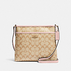 FILE CROSSBODY IN SIGNATURE CANVAS - IM/LIGHT KHAKI BLOSSOM - COACH 29210