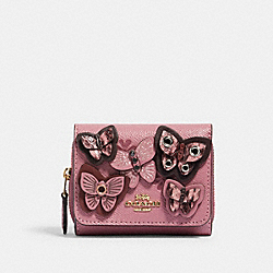 SMALL TRIFOLD WALLET WITH BUTTERFLY APPLIQUE - IM/ROSE MULTI - COACH 2922