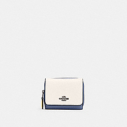 SMALL TRIFOLD WALLET IN COLORBLOCK - QB/CHALK MULTI - COACH 2923