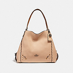 EDIE SHOULDER BAG 31 WITH PRAIRIE RIVETS DETAIL - DK/BEECHWOOD - COACH 29336