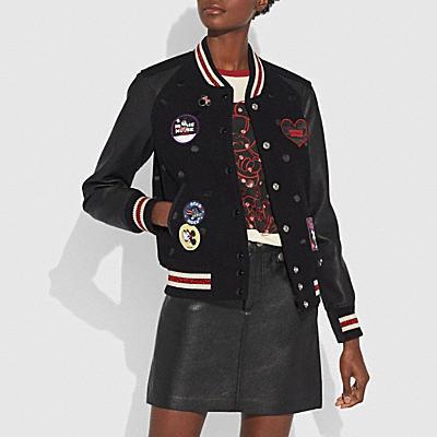 徽章裝飾VARSITY夾克