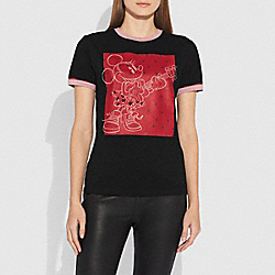 EMBELLISHED T-SHIRT - BLACK - COACH 29455