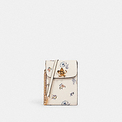 RACHEL PHONE CROSSBODY WITH DANDELION FLORAL PRINT - IM/CHALK/ BLUE MULTI - COACH 2946