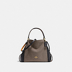 EDIE SHOULDER BAG 28 WITH LEGACY PRINT - LI/BLACK - COACH 29473