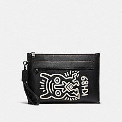 COACH X KEITH HARING POUCH - MONSTER BLACK - COACH 29563