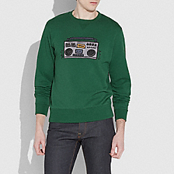 COACH X KEITH HARING SWEATSHIRT - EMERALD - COACH 29628