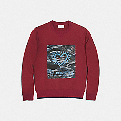 COACH X KEITH HARING SWEATSHIRT - BURGUNDY - COACH 29629