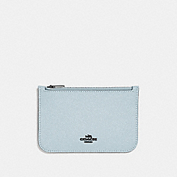 ZIP CARD CASE - SKY /DARK GUNMETAL - COACH 29688