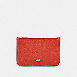 ZIP CARD CASE - LI/JASPER - COACH 29688