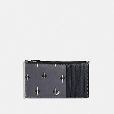 刺繡印花拉鍊卡夾