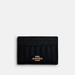 CARD CASE WITH LINEAR QUILTING - IM/BLACK - COACH 2980