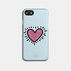 COACH X KEITH HARING IPHONE 6S/7/8 CASE - ICE BLUE - COACH 29844