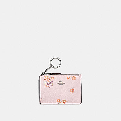 MINI SKINNY ID CASE WITH FLORAL BOW PRINT