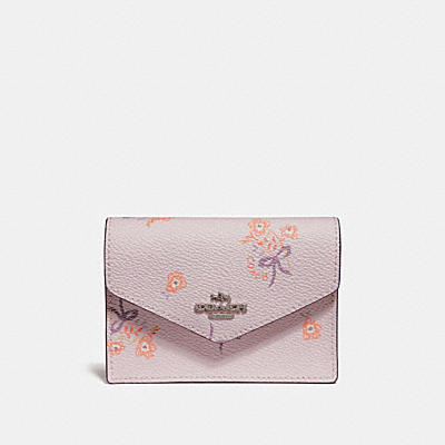 ENVELOPE CARD CASE WITH FLORAL BOW PRINT