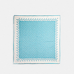SIGNATURE SILK SQUARE SCARF - AQUA - COACH 30067