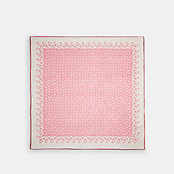 SIGNATURE SILK SQUARE SCARF - BUBBLEGUM - COACH 30067