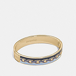 SIGNATURE CHAIN HINGED BANGLE - CORAL MULTI/GOLD - COACH 30193