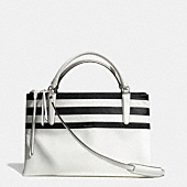 BOROUGH BAG IN BAR STRIPE LEATHER