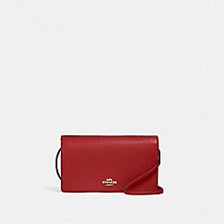 ANNA FOLDOVER CROSSBODY CLUTCH - IM/1941 RED - COACH 3037