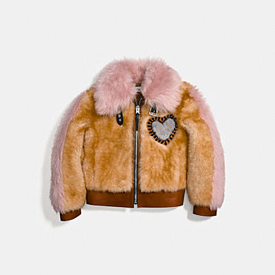 COACH X KEITH HARING Shearling 夾克