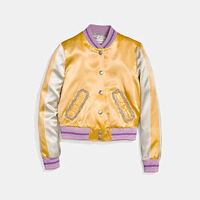 VARSITY 緞面夾克