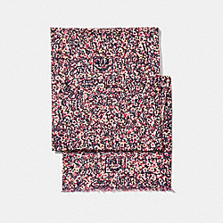 COACH X KEITH HARING EMBELLISHED SCARF - PEACH - COACH 30639