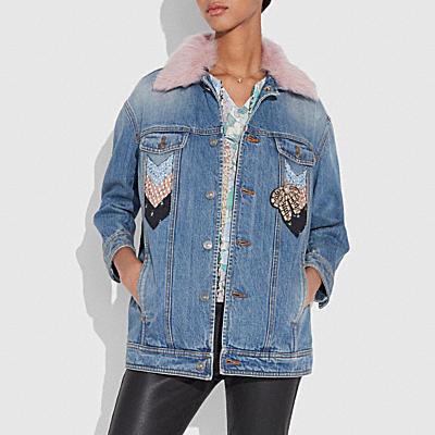 絎縫拼接寬版夾克