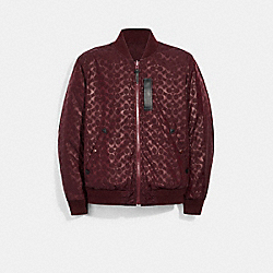SIGNATURE MA-1 JACKET - MAROON - COACH 3089