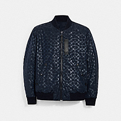 SIGNATURE MA-1 JACKET - NAVY - COACH 3089