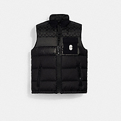 DOWN VEST - BLACK / BLACK SIGNATURE - COACH 3093