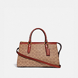 BOND BAG IN SIGNATURE CANVAS - TAN/RUST/BRASS - COACH 30949