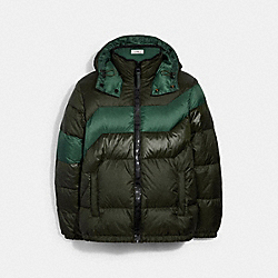 HOODED DOWN JACKET - ROSIN - COACH 3094