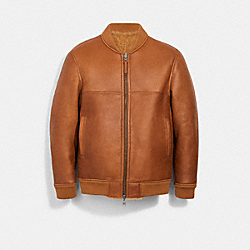 REVERSIBLE SHEARLING BOMBER - WALNUT - COACH 3097