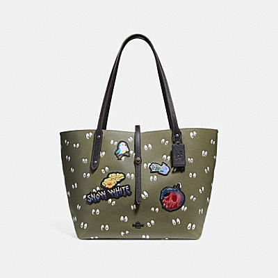 DISNEY X COACH MARKET SPOOKY EYES印花托特手袋